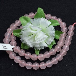Quartz rose naturel perles 8mm prix dégressifs