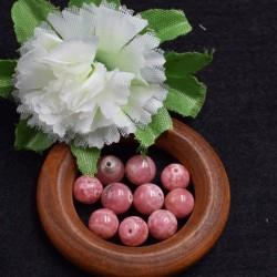 Rhodochrosite naturelle perles 8mm prix dégressifs