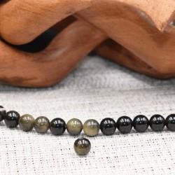 Obsidienne dorée  naturelle perles 8mm prix dégressifs