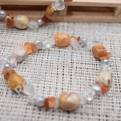 Bracelet Agate claire et d'autres pierres