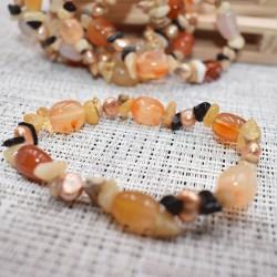Bracelet Cornaline et autres pierres