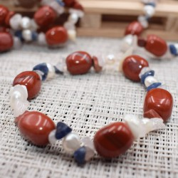Bracelet Jaspe rouge et autres pierres