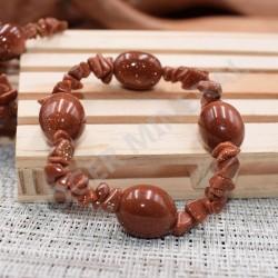 Bracelet Pierre de soleil chips et pierres roulées