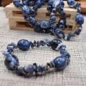 Bracelet Sodalite chips et pierres roulées