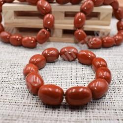 Bracelet Jaspe rouge pierres roulées