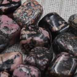 Rhodonite pierre roulée à l'unité