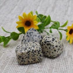 Jaspe dalmatien pierre roulée à l'unité