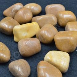 Jaspe caramel pierre roulée à l'unité