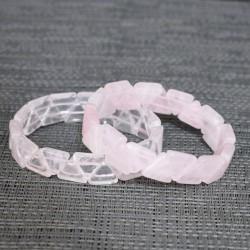 Bracelet Quartz rose triangle
