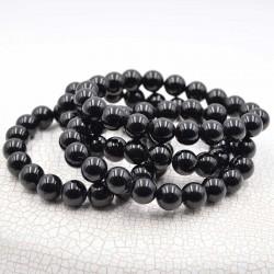 Tourmaline noir bracelet perles rondes 8mm