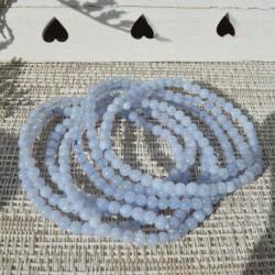 Bracelet Calcédoine perle ronde 04mm