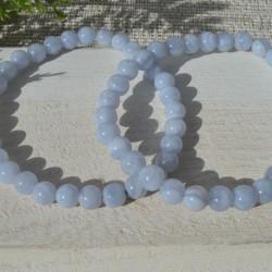 Bracelet Calcédoine perle ronde 06mm