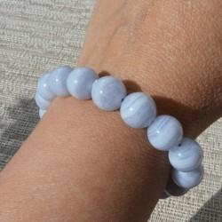 Bracelet Calcédoine perle ronde 12mm