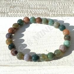 Bracelet Jaspe Polychrome perles rondes 8mm