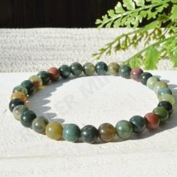 Bracelet Jaspe Polychrome perles rondes 6mm