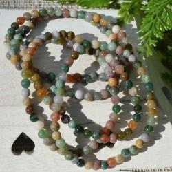 Bracelet Jaspe Polychrome perles rondes 4mm