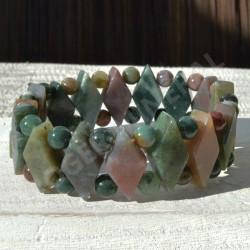 Bracelet Jaspe Polychrome losange