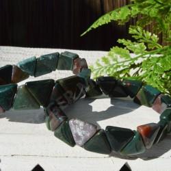 Bracelet Jaspe Polychrome triangle