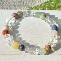 Bracelet Multipierre et Cristal de Roche