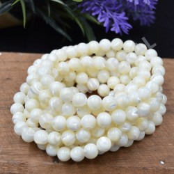 Bracelet  Nacre perles rondes 8mm