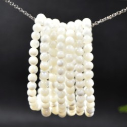 Bracelet  Nacre perles rondes 6mm