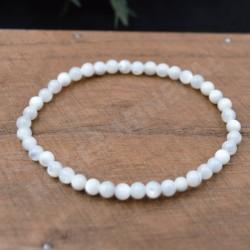 Bracelet  Nacre perles rondes 4mm