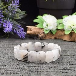 Bracelet Quartz inclusion Tourmaline noire