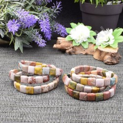 Bracelet Jaspe Orbiculaire square 10mm