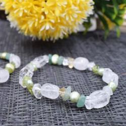 Bracelet cristal de roche et autres pierres