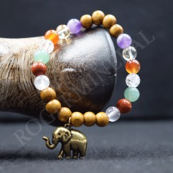 Bracelet 7 Chakras + éléphant