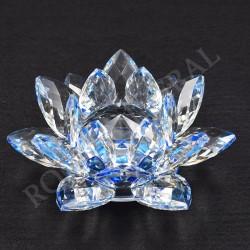 Lotus Feng-shui 8cm bleue