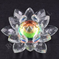 Lotus Feng-shui arc-en-ciel 8cm