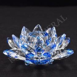 Lotus Feng-shui 5cm bleue