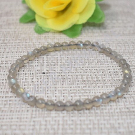 Labradorite bracelet perles rondes 4mm