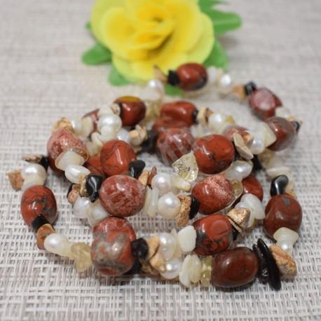 Bracelet Jaspe Brechique et autres pierres