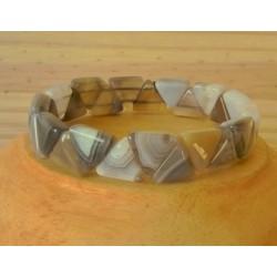 Bracelet Agate triangle
