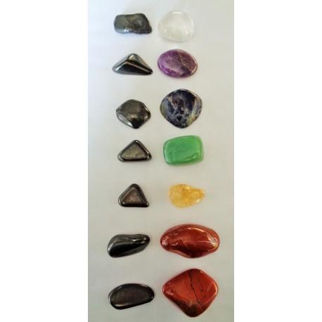 Minéraux 7 Chakras et pierres de Shungite