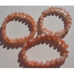 Bracelet Pierre de soleil perles rondes 8mm