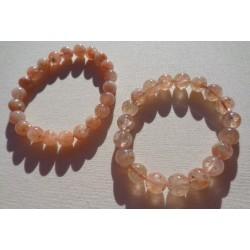 Bracelet Pierre de soleil perles rondes 9mm