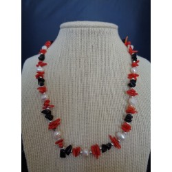 Corail teinté collier PEP05