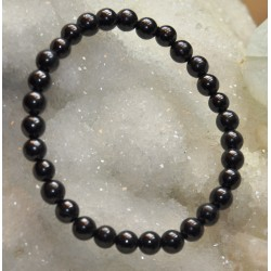 Bracelet Shungite perle ronde 6mm