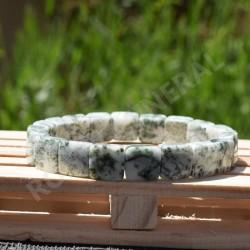 Bracelet Jaspe Dendritique square 10mm