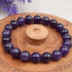 Bracelet Améthyste Perles rondes 10mm
