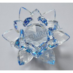 Lotus Feng-shui couleurs bleue 3cm