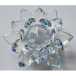 Lotus Feng-shui 4cm bleue