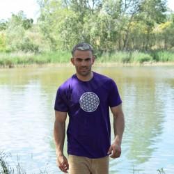 Tee-Shirt violet Homme Fleur de Vie