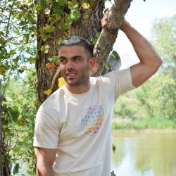 Tee-Shirt naturel Homme Fleur de Vie