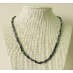 Collier Obsidienne mouchetée Perle ronde