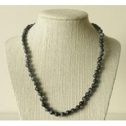 Collier Obsidienne mouchetée Perle ronde 4mm