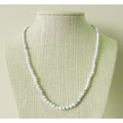 Collier Howlite (Magnésite) Perle ronde 4mm